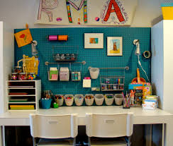 innovative wrapping paper organizer method boise contemporary kids decorators with art room blue wall built in craft