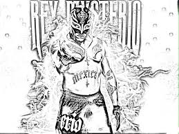 Coloring Download. Rey Mysterio Coloring Pages: Rey Mysterio ...