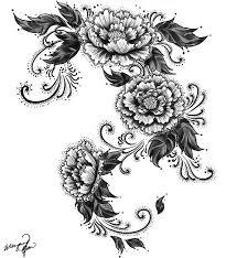 Návrhy Na Tattoo 02 Květiny Lavoisin