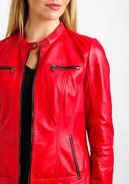 gerry weber leather biker jacket red be the first to review this