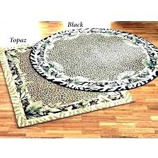 animal print rugs jungle safari tablecloth round leopard rug small size of p tiger skin