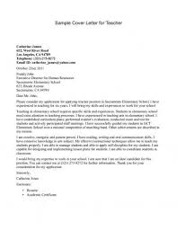 Resume Writing A Cover Letter For A Teaching Job Best Inspiration