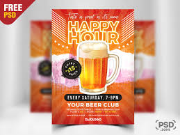 Happy Hour Flyer Happy Hour Promotion Flyer Psd Template Psd Zone