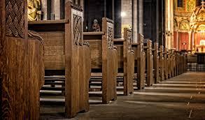 church church pews wood sit old religion