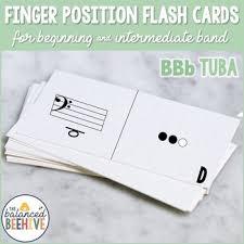 F Tuba Finger Chart Bbb Tuba Fingering Flash Cards