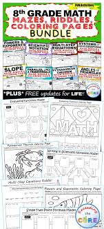 8th grade math mazes riddles coloring pages fun math activities