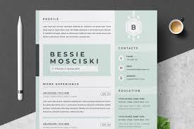 Modern Resume Cv Template Resume Templates Creative Market