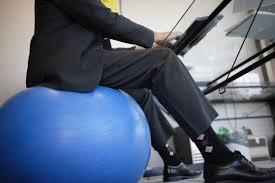 using a ility ball as a desk chair