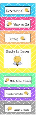 Mrs Blacks Bees Bee Clip Chart