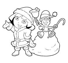 Dora Kinder Kleurplaten Dora Kerst