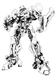 Bumble Bee Transformer Coloring Page Wumingme