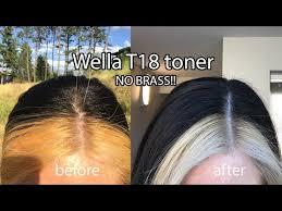 wella t18 toner on orange hair