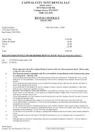 Table And Chair Rental Agreement Template New Terms Conditions ...