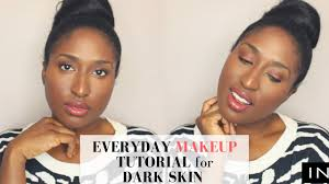 simple everyday makeup tutorial for black women dark skin dry skin inglot s