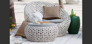 white wicker patio furniture modern