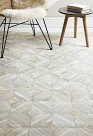 gaucho parquet cowhide leather rugs in natural cream free uk delivery