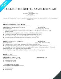 Recruiting Manager Resume Template Resume Template Sample
