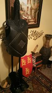 deal on black leather armor and chainmail sca renaissance meval display