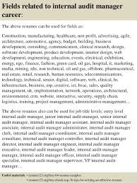 Internal Resumes Top 8 Internal Audit Manager Resume Samples