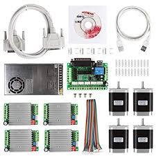 SainSmart <b>CNC</b> 4-Axis <b>Kit</b> with <b>TB6600</b> Motor Driver, Paralle ...