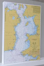 Sea Charts Scotland Nautical Chart On Canvas The Irish Sea 30x40