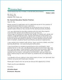 Educator Cover Letter Marvellous Special Education Teacher Cover Letter Which Can