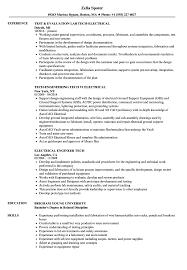Tech-Electrical Resume Samples | Velvet Jobs