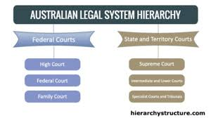 Hierarchy Of Australian Legal System Chart Hierarchy Structure