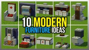 Ideas furniture Foldable Home Living Furniture 10 Modern Furniture Ideas minecraft Youtube