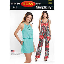 Simplicity Jumpsuit Pattern Classy Amazon Simplicity It's So Easy Pattern 48 Misses Jumpsuit In