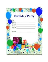 Boys Birthday Party Invitations Templates Birthday Party Card Template