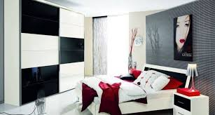 red black and white bedroom decor ideas