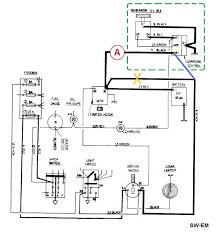 sw em electrical ramblings Auto Meter Gauge Wiring Diagram Voltage extract from the 122 wiring diagram showing correct electrical location of amp meter at red note relocation of one black wire from terminal 30 of starter Auto Meter Volt Gauge Wiring
