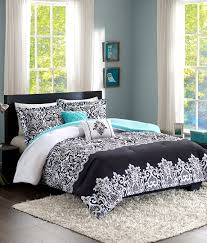 bed sheets for teenage girls. Home Style Teen Girl Bedding Damask Girls Comforter Black White Aqua Teal  Full Queen + GORGEOUS Bed Sheets For Teenage Girls L