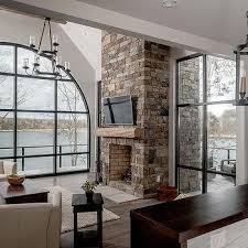 Best 25 Tall Fireplace Ideas On Pinterest  Fireplace Redo White Two Story Fireplace