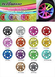 Teckwrap Rubber Spray Paint Color Chart Spray Paint Colors