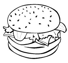 Disegno Di Hamburger Completo Da Colorare Acolorecom
