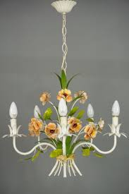 mid century french wrought iron chandelier