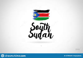 Sudan Design South Sudan Country Flag Concept With Grunge Design Icon