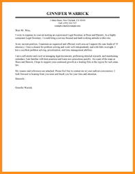 Secretary Cover Letter Examples Law Firm Resume Sample For