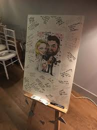 Personalised Wedding Guest Book Ireland Ideas Caricature Guest Board