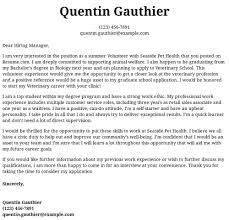 Volunteer Letter Samples Volunteer Cover Letter Examples Samples Templates