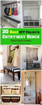Classic polished wooden entryway bench Paint 20 Best Entryway Bench Diy Ideas Projects picture Instructions Furniture Entryway Diy Bench Entryway Bench Pinterest 20 Best Entryway Bench Diy Ideas Projects picture Instructions