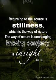 ♂ Lao Tzu QuotesReturning To The Source Is Stillness Which Is The Inspiration Stillness Quotes