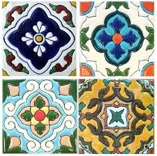 6X6 Decorative Ceramic Tile Mexican Tile Lomeli Decorative Ceramic Tiles Decorative Wall 17