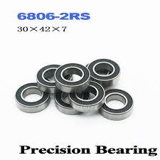 70x90x10 mm <b>Black Rubber</b> Sealed Ball Bearing Bearings 6814RS ...
