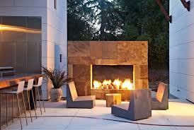 modern concrete patio furniture. Modern Concrete Patio Designs With Tree Stump Outdoor Fireplace Furniture N