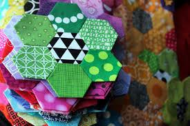 Paper Piecing Flower Hexagons Wombat Quilts