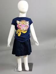 Child mannequin <b>dressed</b> in blue <b>tshirt</b> with a <b>cat</b> on it - Goodwill ...