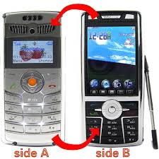 Wholesale Dual Core Two Sided Dual Sim Cell Phone From China